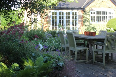 Soften areas of hard landscaping with planting